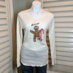 NWT, Old Navy Gingerbread Tee, Large